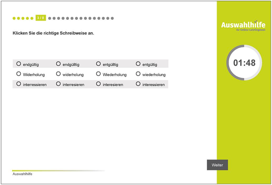 Testmodul Deutsch Langversion Auswahlhilfe Lehrlingstest i-kiu ibw