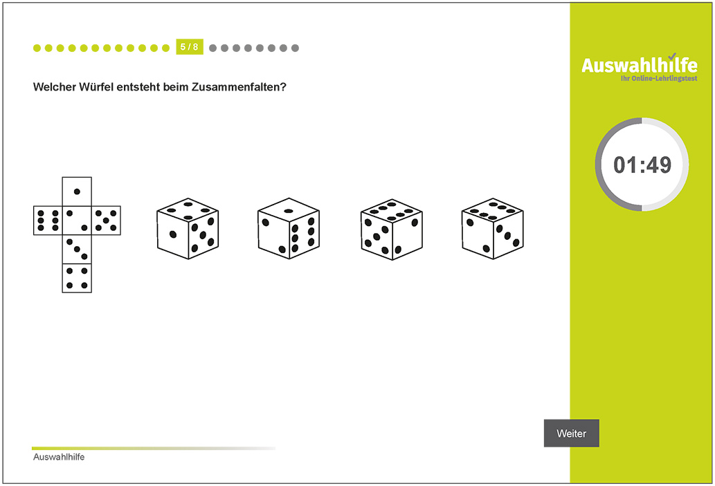 Testmodul Form und Raumgefühl Auswahlhilfe Lehrlingstest i-kiu ibw