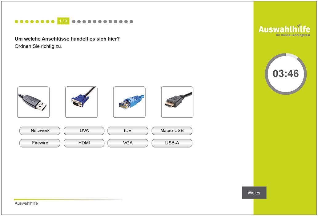 Testmodul IT-Kenntnisse Auswahlhilfe Lehrlingstest i-kiu ibw
